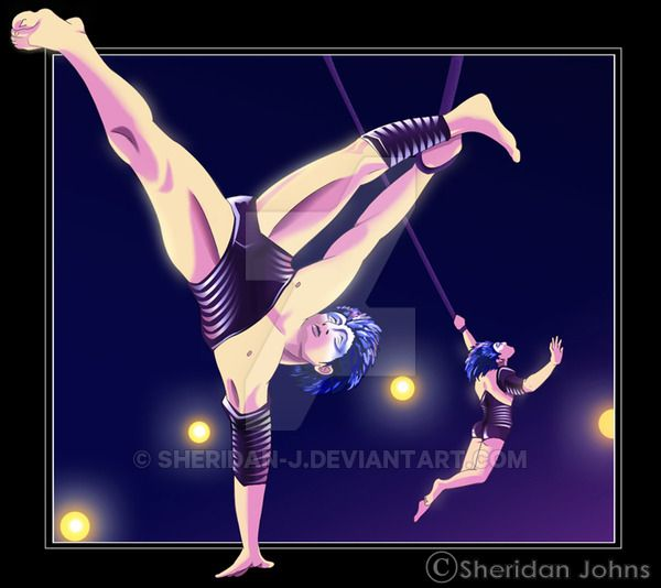 Varekai | Andrew & Kevin Atherton as Castor & Pollux by Sheridan Johns [©2007]