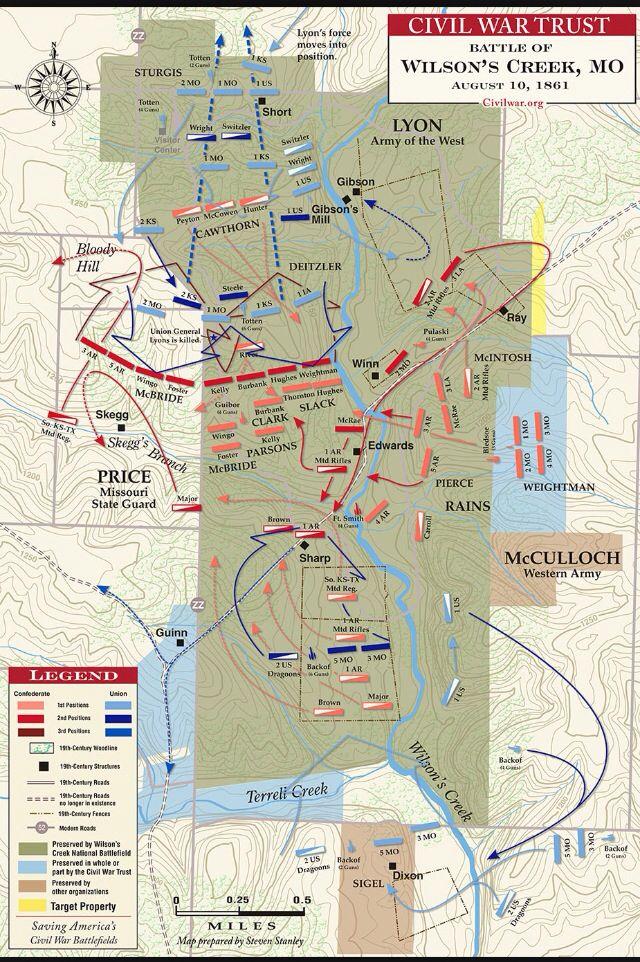 Battle Of Wilsons Creek In Mo Civil War Battlefields