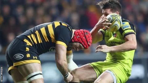 """James Haskell: Wasps boss jokes about 35-second return by England flanker – BBC Sport #second #concussion http://netherlands.remmont.com/james-haskell-wasps-boss-jokes-about-35-second-return-by-england-flanker-bbc-sport-second-concussion/  # James Haskell: Wasps boss jokes about 35-second return by England flanker James Haskell remained on the floor after this tackle on Leicester fly-half Freddie Burns Wasps director of rugby Dai Young joked about James Haskell's """"outstanding"""" contribution…"""