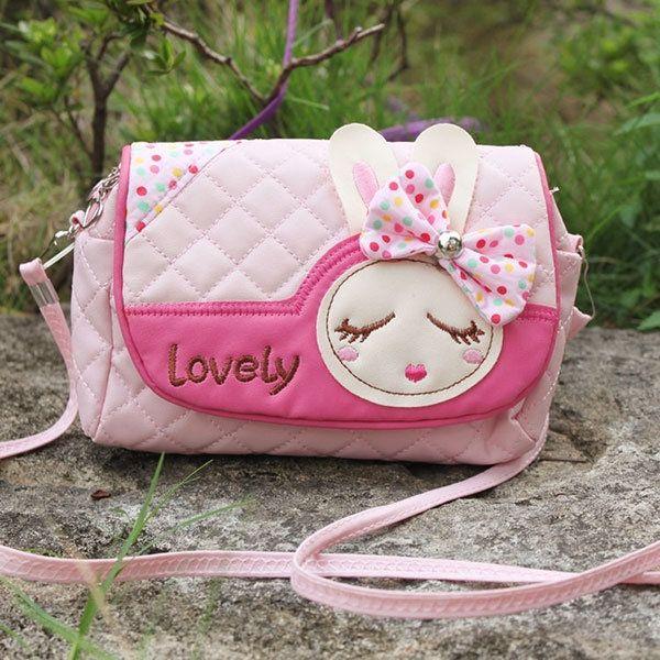 Children Girls Princess Pretty Lovely Handbag Rabbit Shoulder Bags Messenger Bag