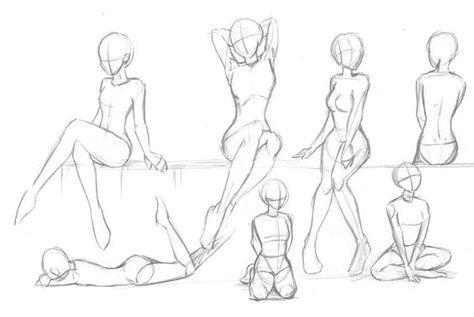 anime, how to draw, manga, sketch, girl sitting