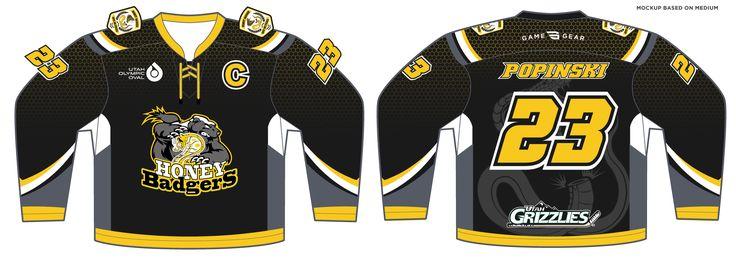 588-SUB Honey Badgers Hockey Jersey