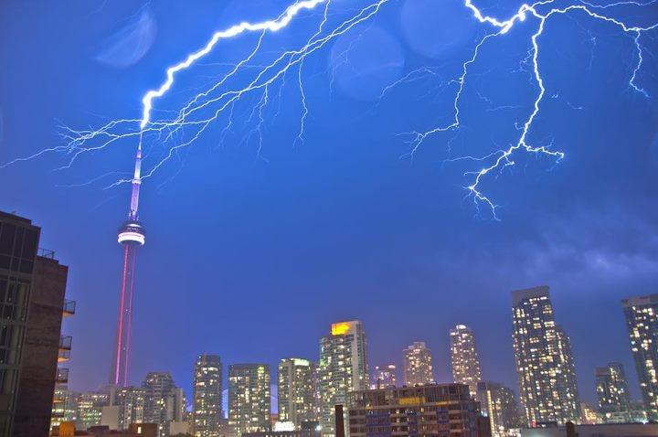 CN Tower - lightning - Sept 2011