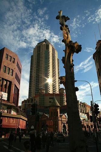 Golden tree in Chinatown Sydney Australia