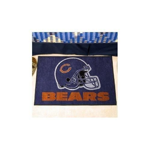 19 X 30 NFL Bears Door Mat Printed Logo Football Themed Sports Patterned Bathroom Kitchen Outdoor Carpet Area Rug Gift Fan Merchandise Vehicle Team Spirit Navy Blue Orange Nylon