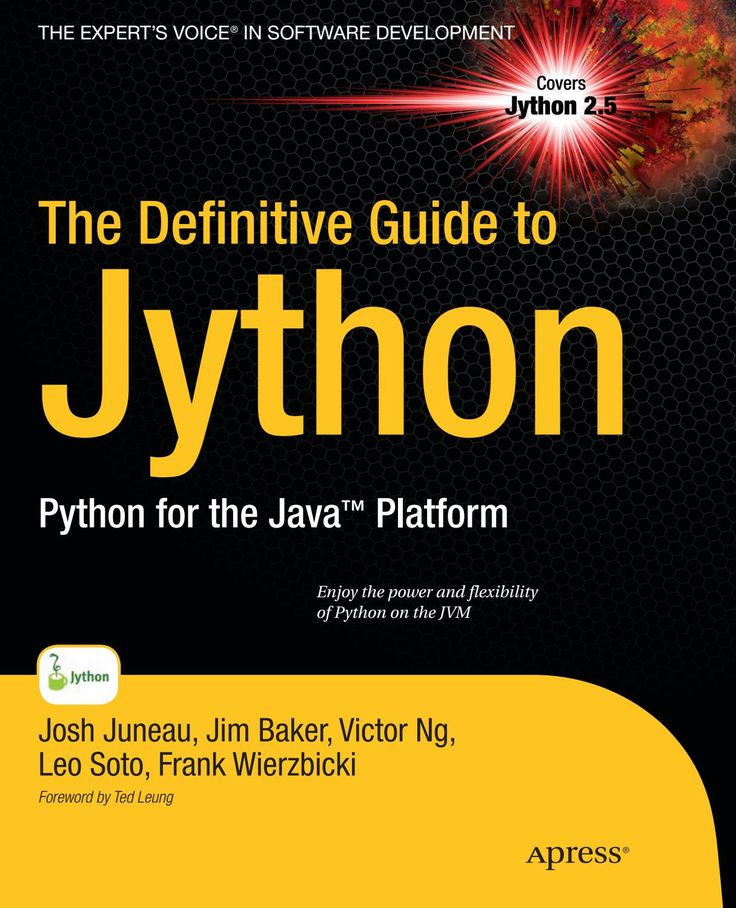 32 best python programming images on pinterest python programming the definitive guide to jython python for the java platform apress fandeluxe Image collections