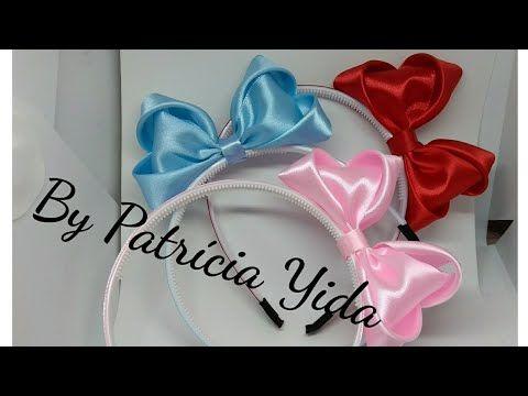 Laço Elegante Laço em gorgurão Sanding DY By Patrícia Yida - YouTube
