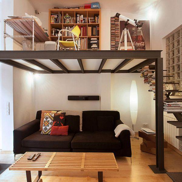Las 25 mejores ideas sobre cama de entresuelo en pinterest - Soluciones dormitorios pequenos ...