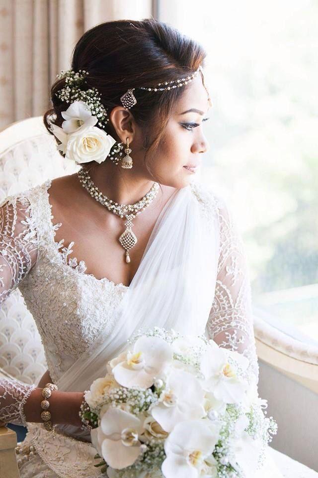 Beautiful White On Sari