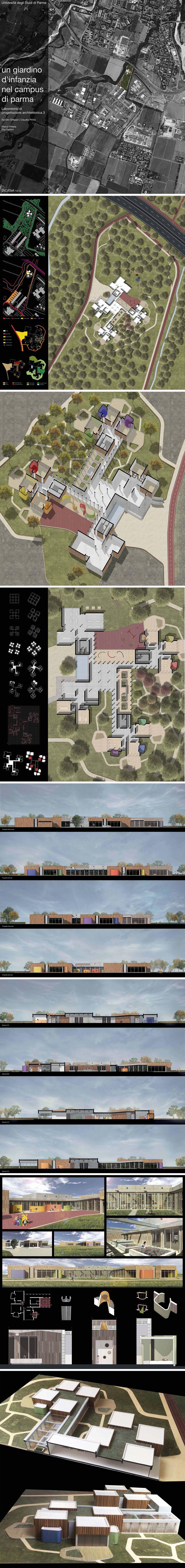Laboratorio di progettazione III 2015 - Un giardino d'infanzia nel campus di Parma
