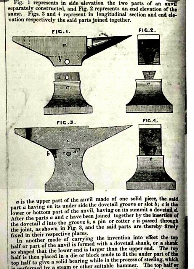 Illustration Of 2 Piece Anvil Interesting It S A Dovetail And