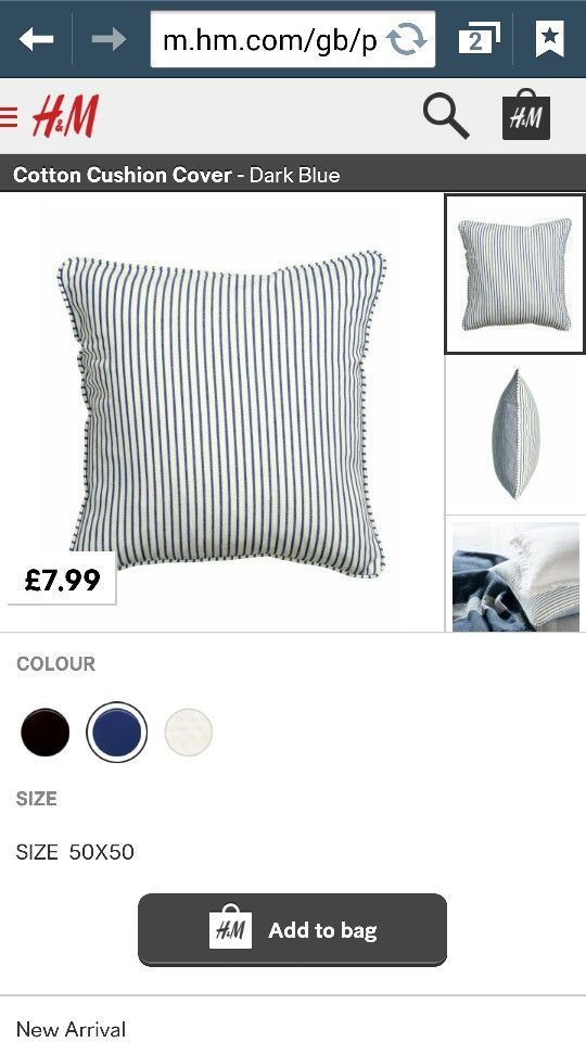 Amazing price cushions at h and m