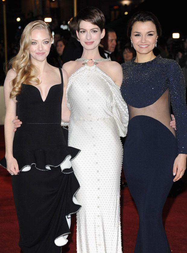 Amanda Seyfriend, Anne Hathaway and Samantha Barks -' Les Miserables' World Premiere
