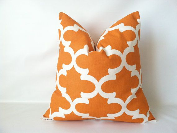 A stylish addition to your fall decor! Fall Pillow Covers  18 x 18 One Moroccan Tile by mizzeztee on Etsy