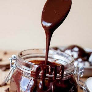 Chocolate Sauce With Semi-sweet Chocolate Morsels, Evaporated Milk, Sugar, Butter, Vanilla