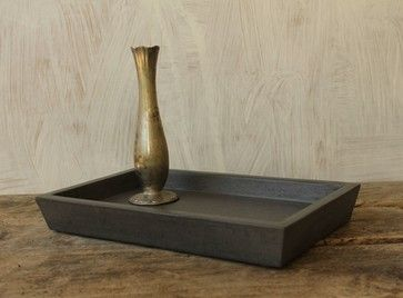 Concrete Valet Tray, Dark Gray - modern - Dresser Valets And Organizers - Rough Fusion