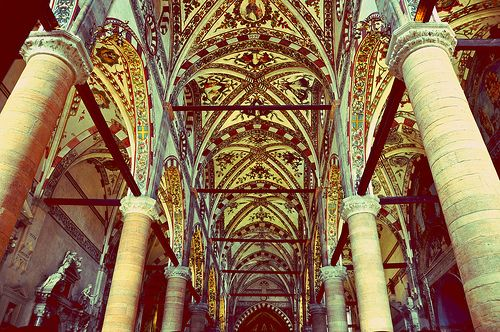Sant'Anastasia, Verona - A 15th century Gothic church with fine decorations on its outer and inner walls