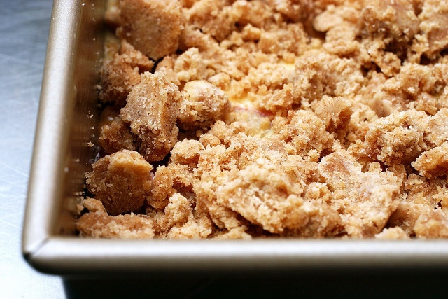 big crumb coffee cake by smittenkitchen.  This is, by far, the BEST rhubarb recipe I have EVER EVER tried.
