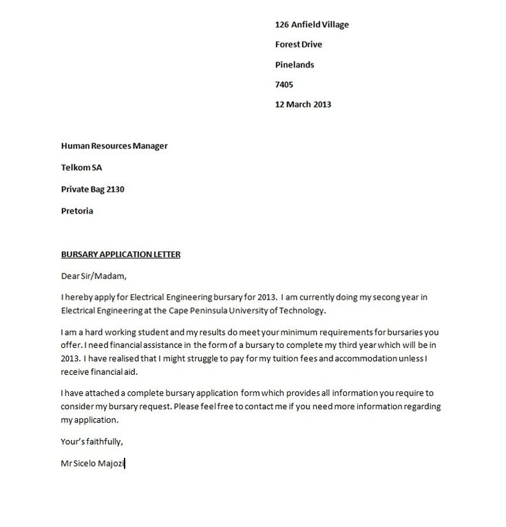 10 best Application Letters images on Pinterest Application - example of cv