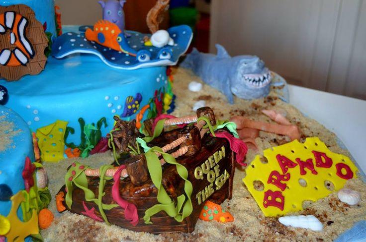 Particolari torta Nemo