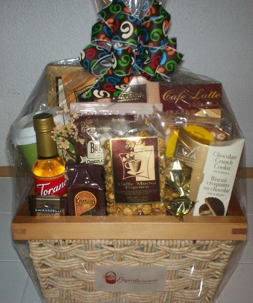 coffee gift basket custom gift baskets pinterest