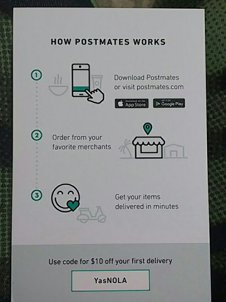 Get McDonald's, Taco Bell or just about anything delivered straight to your door #Postmates #delivery #food #nola #new Orleans get $10 off your first delivery with code YasNOLA