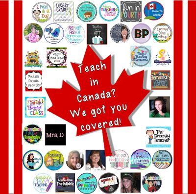 Check out this HUGE list of Canadian TpT sellers (K-12) on Mrs. Beattie's Classroom blog!