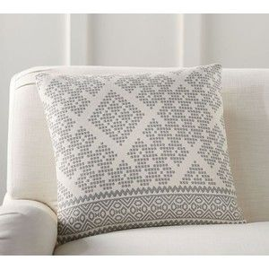 pottery barn collette jacquard pillow cover