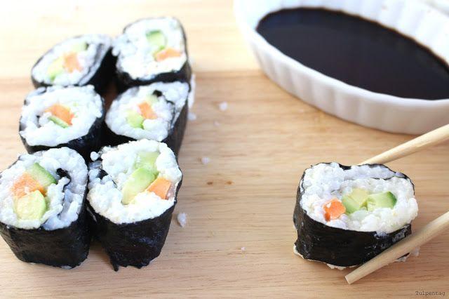Tulpentag: Sushi vegetarisch und selbstgemacht