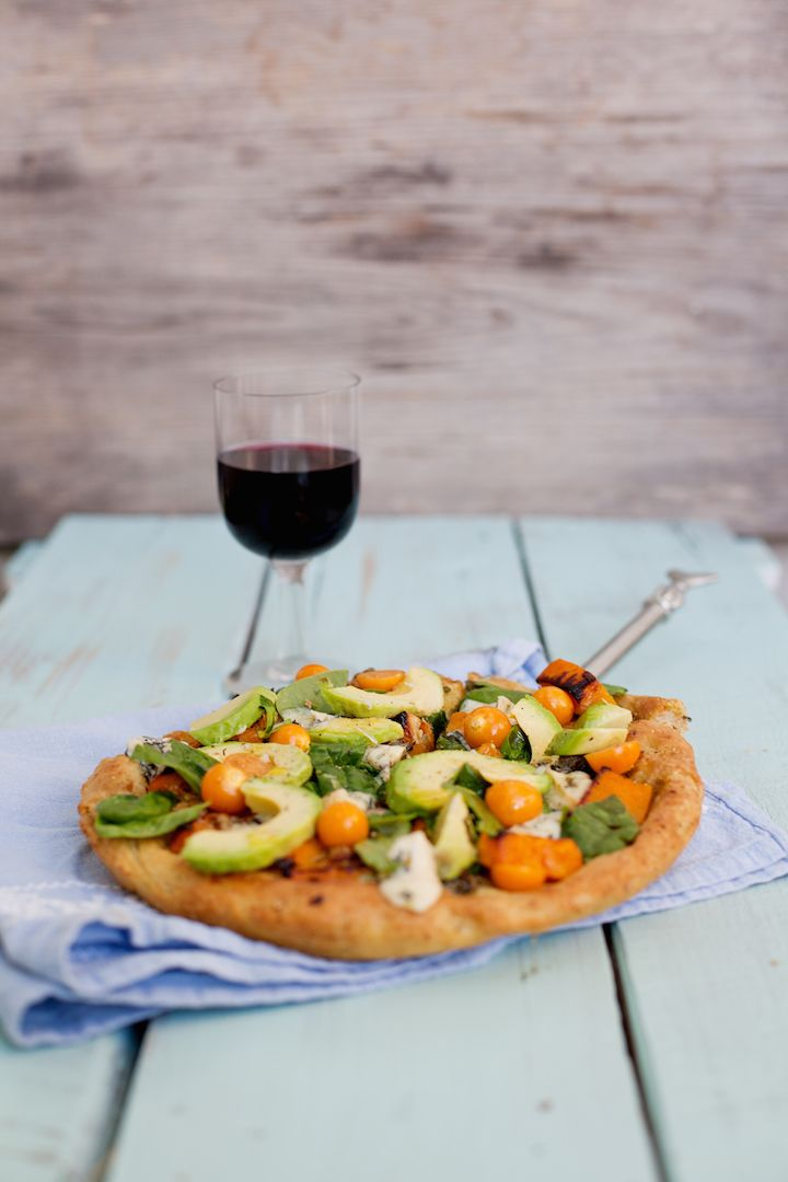 Butternut, avocado pizza, South Africa, food, styling, two oceans wines