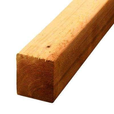 4 in. x 4 in. x 8 ft. Premium S4S Cedar Lumber