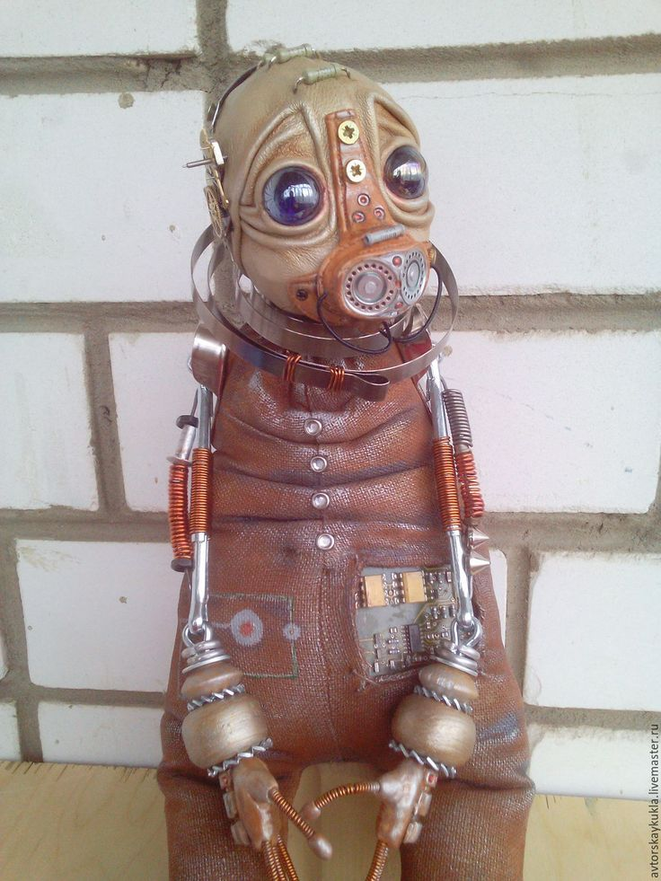 Купить Странник. - коричневый, стимпанк, авторская работа, инопланетянин, ручная работа, кукла, робот