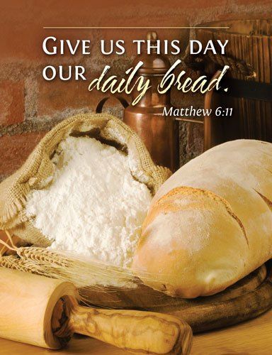 Matthew 6 11 Church Bulletin Cover For Communion Based
