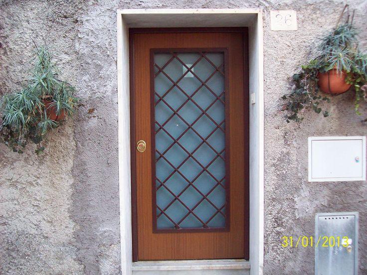 Porta blindata vista esterna con vetro visarm for Porte in vetro leroy merlin