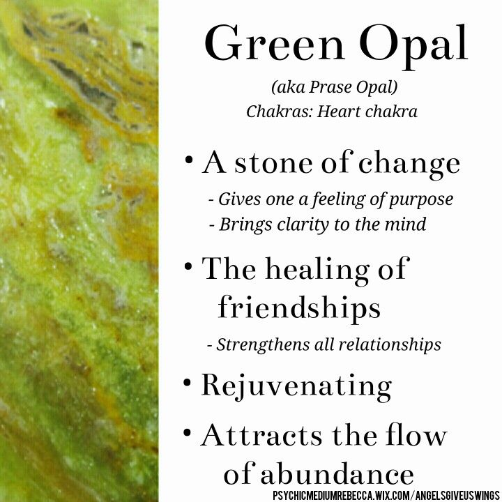 Green Opal crystal meaning