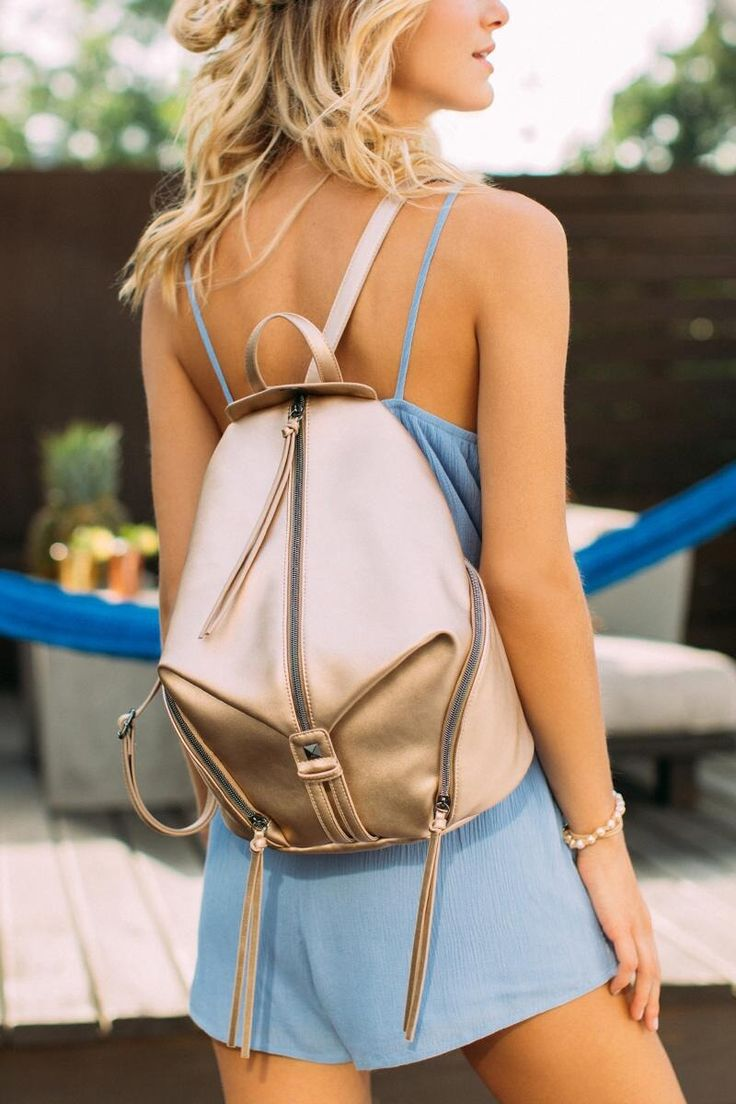Katie Rose Gold Backpack