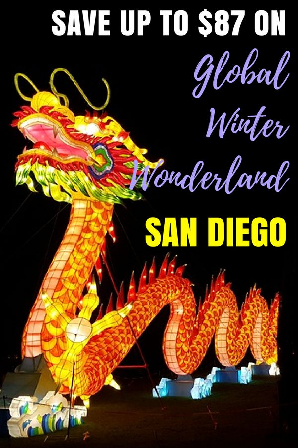 Looking for fun things to do in San Diego? Have fun at the Global Winter Wonderland! Held at the SDCCU Stadium in San Diego, California, you can enjoy live entertainment, light displays, carnival rides and more! Southern Californa With Kids | San Diego Travel Fun |  San Diego Fun With Kids #sandiego #visitsandiego #familytravel #wintertravel
