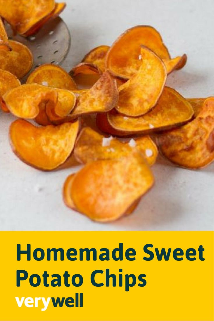 Crush a sweet or salty food craving with these homemade healthy sweet potato chips. They're crunchy and delicious, kid-friendly, and easy to make. Get the full recipe here