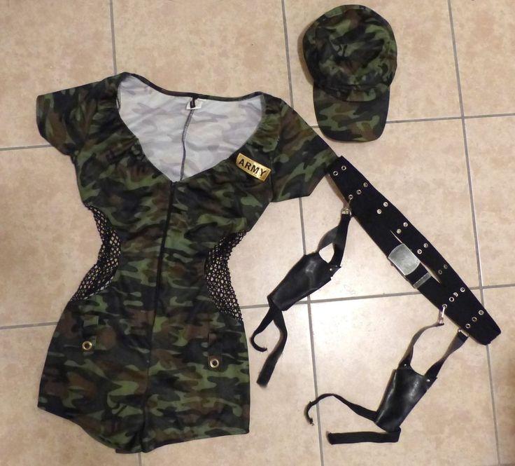 Sexy Army Military Boot Camp Babe Camo Jumpsuit Halloween Costume Leg Avenue S/M | eBay