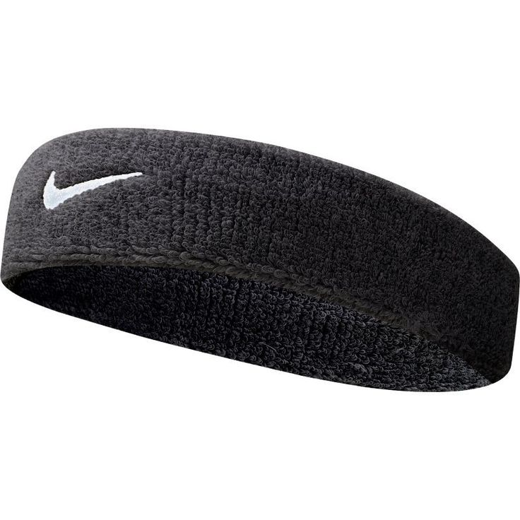 "Nike Swoosh Headband - 2"", Black"