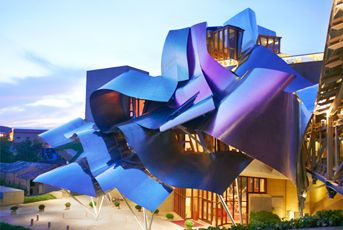 Hotel Marques de Riscal, Elciego. Designed by Frank O. Gehry located in the Rioja wine region.
