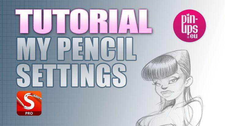 Autodesk Sketchbook Pro Tutorial : PENCIL SETTINGS