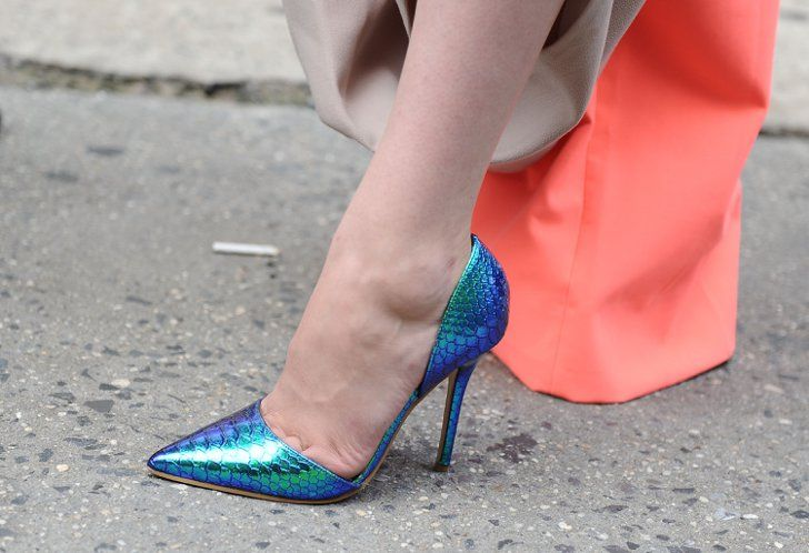 Pin for Later: You're About to Obsess Over NYFW's Best Street Style Accessories Day 2 Primark shoes.