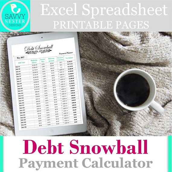 460 best Savvy Nester - Budget Organizers images on Pinterest - credit card payoff calculator spreadsheet