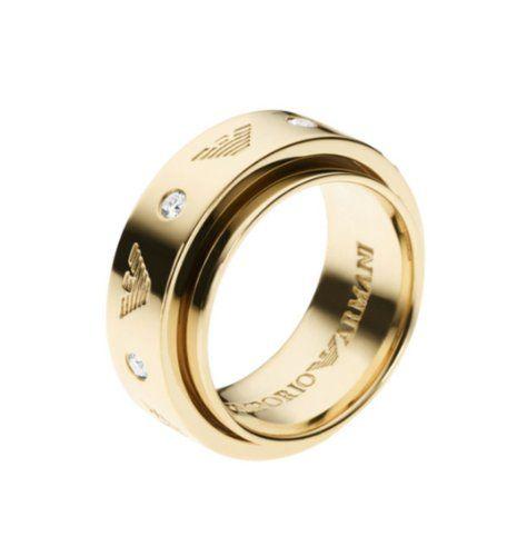 Armani Damen Ring 925 Silber Zirkonia Weiß Gr 54 17 2 Eg3051710