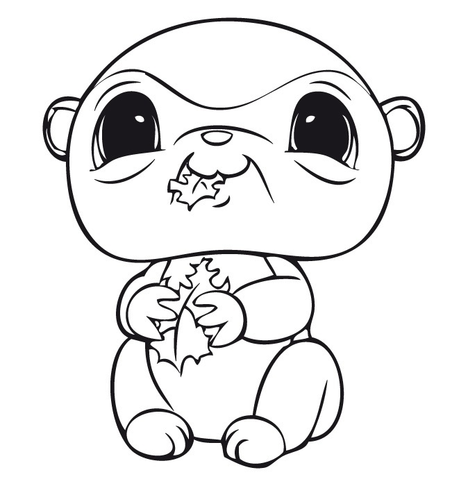17 best images about lps on pinterest coloring littlest for Littlest pet shop coloring pages dog