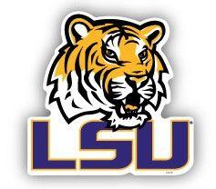 "LSU Tigers 12"" Car Magnet"