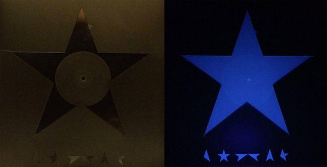 David Bowie / Blackstar + Blacklight = fluorescent blue