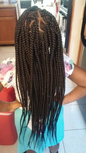 Long box braids for kids!