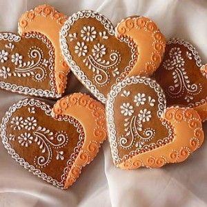 Hand decorated gingerbread cookies / Ručne zdobené medovníčky / Biscotti Pan Di Zenzero Tradizionali fatti a mano